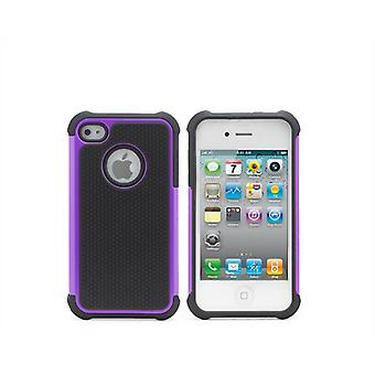 Shock Proof Case Cover For Apple iPhone 5 5S SE + touch stylus - Purple