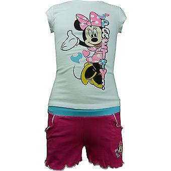 Jeunes filles Disney Minnie Mouse manches courtes T-shirt & Shorts 2 pièces Set