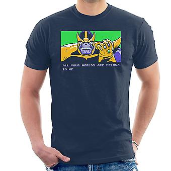 All Your Worlds Are Belong To Me Thanos Zero Wing Men's T-Shirt