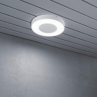 Konstsmide Cesena High Power LED White Disk Ceiling Flush Porch Light