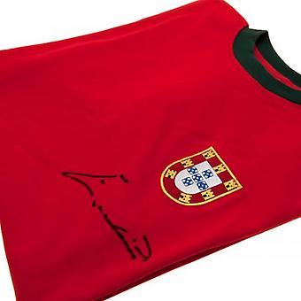 Portugal Eusebio Unterzeichnung Hemd