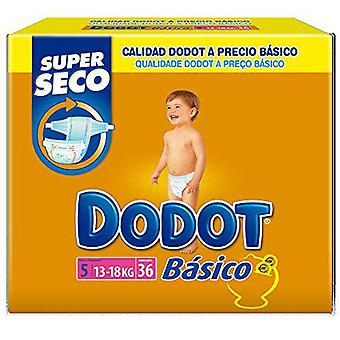 Dodot Basic Diapers Size 5 of 13-18 kg 36 Units (Baby & Toddler , Diapering , Diapers)