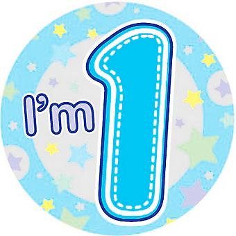 Expression Factory Childrens Boys I�'m 1 Today Giant Badge