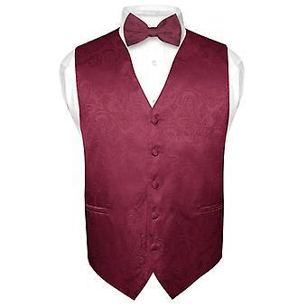Paisley Design sukni kamizelka & muszka BOWTie zestaw dla Tux garnitur męski
