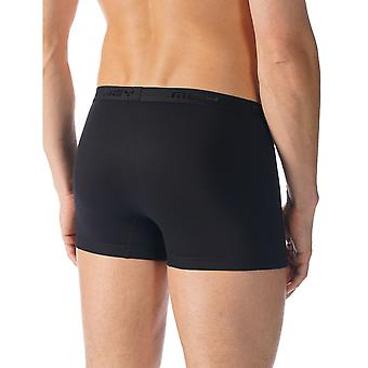 Mey 42521-123 Men's Software Black Solid Colour Fitted Boxer