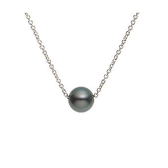 Ras necklace of the neck Woman Pearl of Tahiti and Chaine Forcat in Silver Massif 925/1000 3329