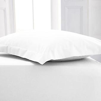 Percale Polycotton Flat Sheet Single White