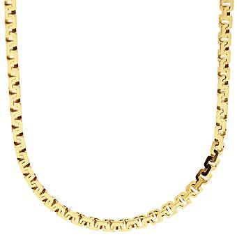 """سلسلة """"الفضة الاسترليني 925 مدينة البندقية""""-كوبرا المربع 3، 5 ملم الذهب"""