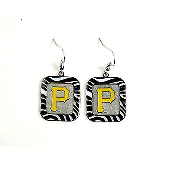 Pittsburgh Pirates MLB cebra estilo pendientes