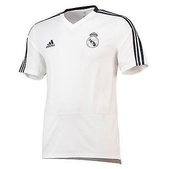 2018-2019 Real Madrid Adidas Training Shirt (White)