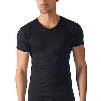 Mey 42507-123 mannen Software Top korte mouw zwart effen kleur