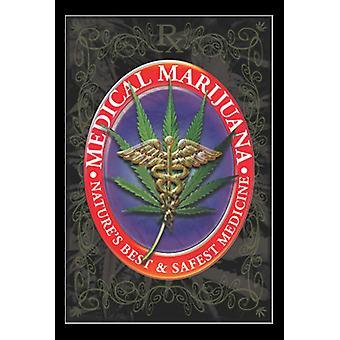 Medicinsk Marijuana affisch Skriv