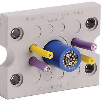 Icotek KEL DPZ B17 kaapeli läpivienti Terminal Ø (max.) 16.2 mm polyamidia, elastomeeri harmaa 1 PCs()