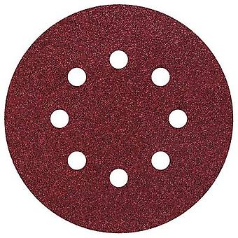 Wolfcraft 2069000 Router sandpaper Hook-and-loop-backed, Punched Grit size 40 (Ø) 125 mm 5 pc(s)