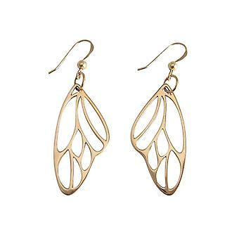 Gemshine-dame øredobber-925 sølv-forgylt-Butterfly Wings