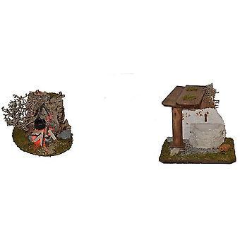 Nativity accessoires stabiele Nativity instellen fontein wieg accessoires kampvuur