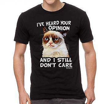 Grumpy Cat Opinion Men's Black Funny T-shirt