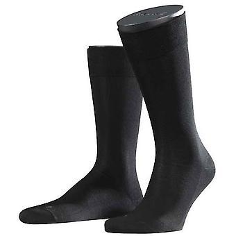 Falke sensível Málaga meias Midcalf - preto