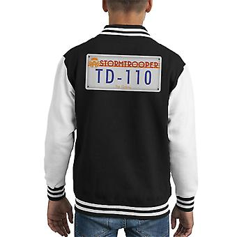 Original Stormtrooper License Plate Kid's Varsity Jacket