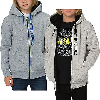 Animal Boys Kids Stanto Casual Long Sleeve Zipped Hooded Sweatshirt Jacket Top