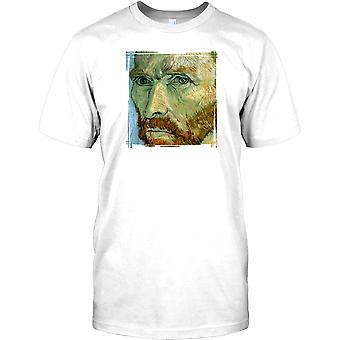 Vincent Van Gough - Künstler-Porträt-Herren-T-Shirt