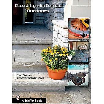 Dekoracyjne z betonu na zewnątrz: podjazdy, ścieżek i tarasów i pokładów basen