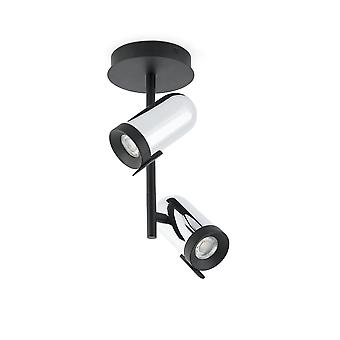 Faro - Orleans Chrome And Black Dropped Two-Light Spotlight FARO43534