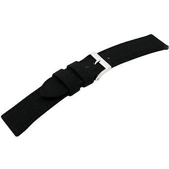 Morellato black leather strap 22 mm black CORDURA/2 man A01U2779110019CR20
