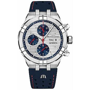 Maurice Lacroix Aikon Automatic Limited Edition Blue/Red Dial Blue Strap AI6038-SS001-133-1 Watch