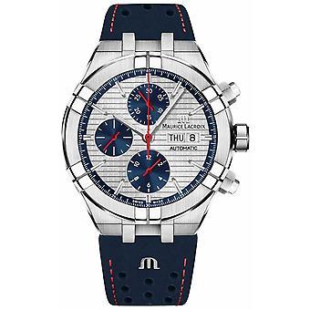 Maurice Lacroix Aikon automaattinen rajoitettu painos sininen/punainen Dial sininen hihna AI6038-SS001-133-1 Watch