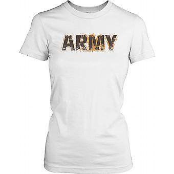 Exército - forças armadas coberto de lama feminina T-Shirt