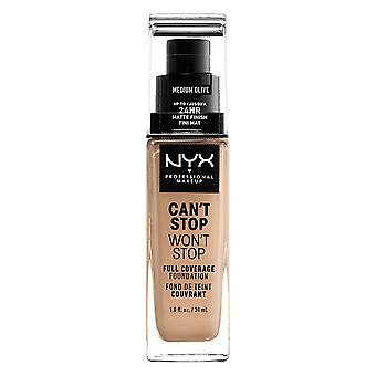 NYX PROF. MAKEUP Can ' t stop Won ' t stop Foundation-Medium Olive