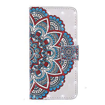 Samsung Galaxy S10 Plånboksfodral - Half Mandala