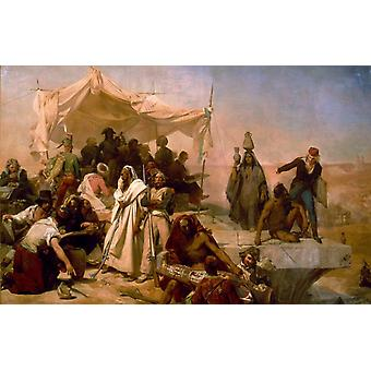 The Egypt Expedition under Bonaparte-S, Leon Cogniet, 60x40cm