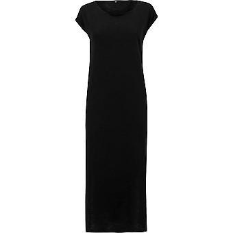 Urban Classics Damen Kleid Slub Long