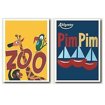 2-pack dierentuin posters en PimPim