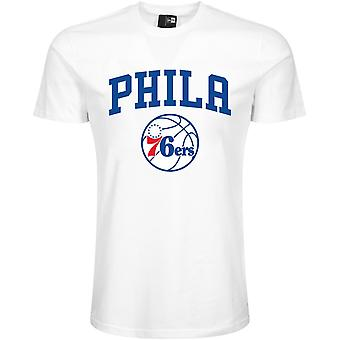 New Era Basic Shirt-NBA Philadelphia 76ers White