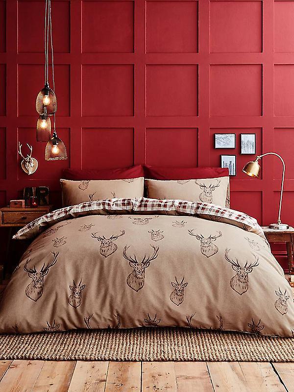 Catherine Lansfield Stag Duvet Cover & Pillowcase Set
