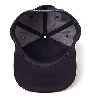 Sony PlayStation logo denim brodert SnapBack baseball cap svart SB247883SNY