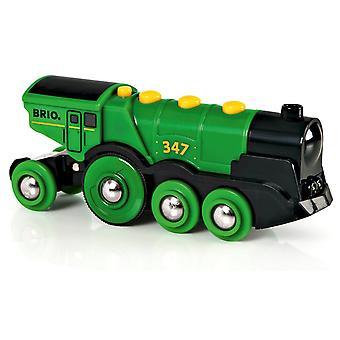 BRIO Train Locomotive de Rail grande Action verte