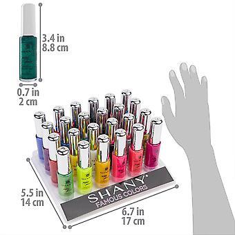 SHANY Nail Art Set (24 kuuluisa värit Nail Art Polish, Nail Art koriste luun)