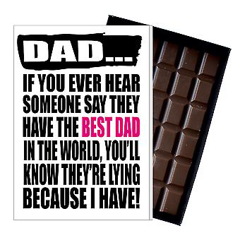 Funny Father's Day Gift Silly Chocolate Present Rude Card For Dad DADIYF132