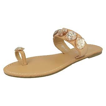 Ladies Savannah Flat Toe Loop Sandals