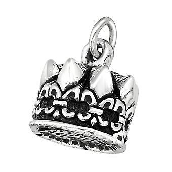 Electroform Crown Pendant - 925 Sterling Silver Silver Heavy - W38959X