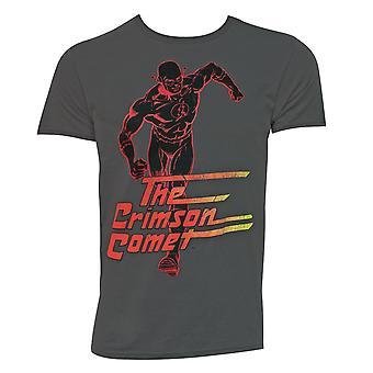 Flash Crimson Comet Men's Grey T-Shirt