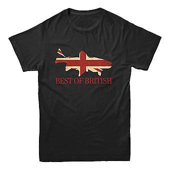Officiell hooked-Fishing T-shirt-bäst av brittiska