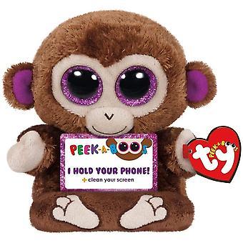 TY Peek-A-Boos Chimps Monkey Phone Holder Gosedjur Mobilställ