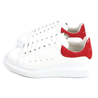 Alexander McQueen Alexander Mcqueen Exaggerated-sole Leather Sneakers 9676 White/red Velour