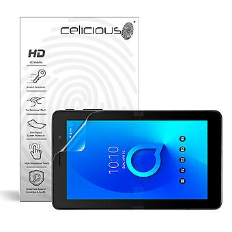 Celicious Vivid Invisible Glossy HD Screen Protector Film Compatible with Alcatel 1T 7 [Pack of 2]