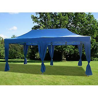 Pop up huvi Maja FleXtents PRO 3x6 m sininen, sisältää 6 koriste verhot
